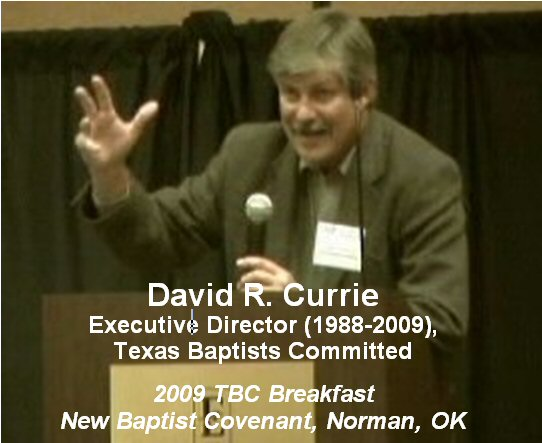 David Currie, 2009 New Baptist Covenant-Norman, Oklahoma