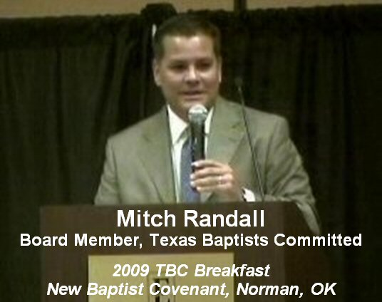 Mitch Randall, 2009 New Baptist Covenant-Norman, Oklahoma
