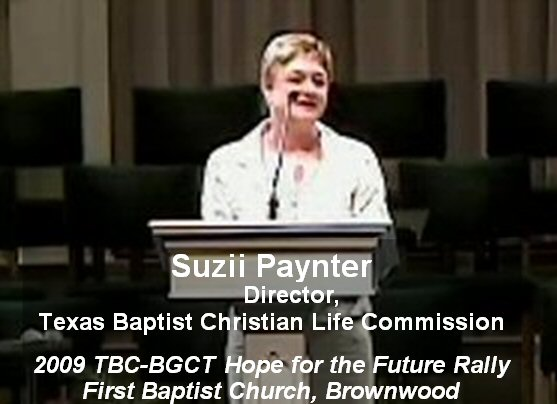 Suzii Paynter, 2009 TBC-BGCT Hope for the Future Rally, FBC Brownwood