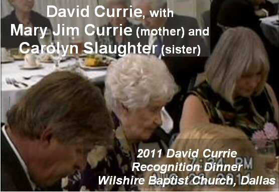 David Currie with mother & sister, 2011 Currie Dinner, Wilshire BC, Dallas